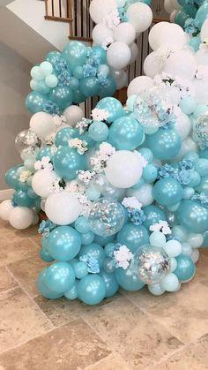 Birthday Balloon Decorations, Birthday Balloons, Birthday Party Decorations, Baby Shower Decorations, Balloon Arch Diy, Balloon Bouquet, Balloon Garland, Balloon Backdrop, Balloon Columns
