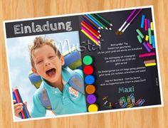 Einladung Einschulung Schulanfang MUSTER 9 - Bild vergrößern