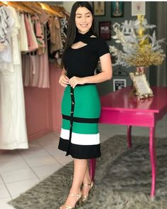plus size outfits for work womens clothes Casual Summer Outfits, Classy Outfits, Trendy Outfits, Cute Church Outfits, Dress Outfits, Fashion Dresses, Dress Skirt, Bodycon Dress, Plus Size Kleidung