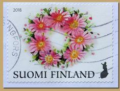Onnenkukkia 1-Suomalainen postimerkki 2018_AA