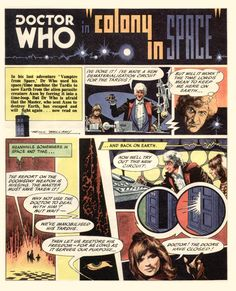 Doctor Who's Colony In Space comic by Frank Bellamy - souce: http://www.alandavis-comicart.com/FB-various.html
