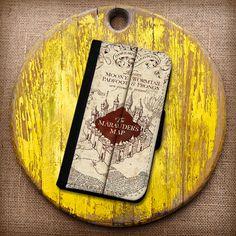 Harry Potter Inspired Marauder's Map Wallet Case. by CaseEnvy, $22.00