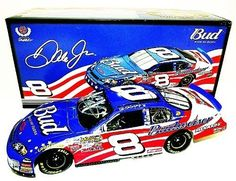 SIGNED 2007 Dale Earnhardt Jr. #8 Budweiser STARS & STRIPES 1/24 Action NASCAR Diecast by Trackside Autographs. $154.95. For your viewing pleasure: *AUTOGRAPHED* 2007 Dale Earnhardt Jr. #8 Budweiser STARS & STRIPES 1/24 Action Diecast. This nice car has been hand-signed by Dale Jr in silver on the windshield through a well-respected member of Global Authentication. You will receive a Certificate of Authenticity (COA) with your purchase, and we also offer a 100% l...