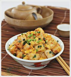 Steamed White Radish Cake 简易白萝卜糕 | Anncoo Journal - Come for Quick and Easy Recipes