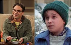 MIND BLOWN: Johnny Galecki as Leonard from The Big Bang Theory and Rusty from my childhood favorite, Christmas Vacation.
