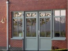 RAL 7030 window - Google Search Ral Color Chart, Glass Porch, Grey Windows, Modern Front Door, Grey Doors, Ral Colours, House Entrance, Grey Stone, Deco