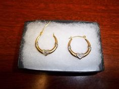 Trio 3 14K Hoops White and Yellow Gold Bottom by GiftShopVintage