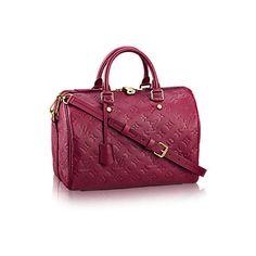 Speedy Bandoulière 30 Monogram Empreinte Leather ($3,050) ❤ liked on Polyvore