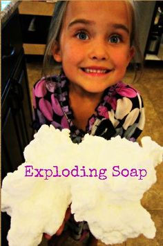 Exploding Soap ~ Microwave Science For Kids - A Thrifty Mom - Recipes, Crafts, DIY and more - Romy Summer Science, Easy Science, Science Experiments Kids, Science Fair, Science Education, Science For Kids, Science Projects, Science Activities, Activities For Kids