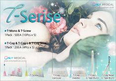 South Korea Thread lifting product ◈ T-Serise ◈ ☆ Effect : Lifting & Wrinkles Removal ※ Application area : fore head, middle fore head, nose, cheeks, chin, neck Thread Lift, Wrinkle Remover, South Korea, Middle, How To Remove, Medical, Personal Care, Self Care, Medicine
