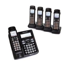 Panasonic DECT 6.0 5-Handset Cordless Phones with Power Backup