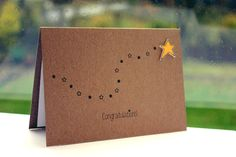 Handmade Congratulations Card  //  Well Done Card  //  You're a Star Card  //  Star. £3.00, via Etsy.