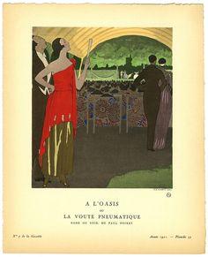 A l'Oasis ou La Voute Pneumatique - Robe du soir, de Paul Poiret [At the Oasis, or The Inflated Canopy - Evening gown by Paul Poiret] | Flickr - Photo Sharing!