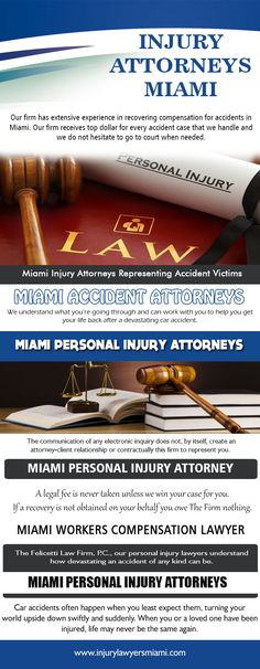 Our Website: http://www.injurylawyersmiami.com/ If you do unknown any type of Injury Attorneys Miami, ask your good friends for names of lawyers they rely on. It isn't really vital that they offer you the name of an attorney that can manage your case - one of the most vital thing is that the lawyer is most likely to recognize the issues of your scenario, and is well-positioned to understand which lawyers in your neighborhood area have the skills to take care of your case.