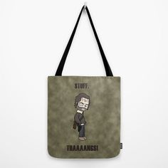 The Walking Dead, Rick Grimes, Stuff and Thangs, Tote Bag