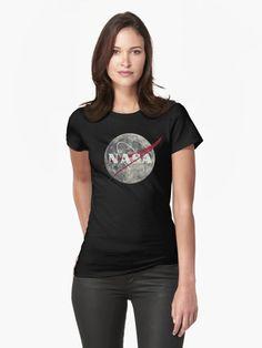NASA Moon Vintage Emblem by Lidra