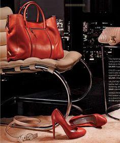 shoes  + purse = :) happy