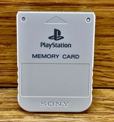 Sony Playstation 1 + 2 Memory Card GREY Official Original Superb Condition Mint