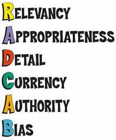 RADCAB - Steps for Online Information Evaluation