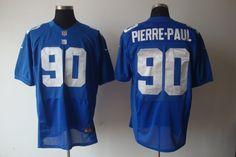 Nike Giants 90 Jason Pierre-Paul Blue Men's Embroidered NFL Elite Jersey