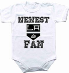 Baby bodysuit Newest fan Los Angeles Kings hockey by rockbabysuit, $10.98 I want this!!!