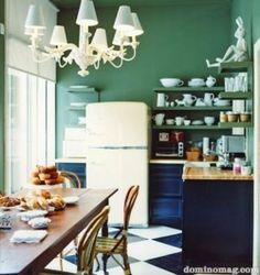 A Plethora of Ways to Add Color in the Kitchen -0ne day I will have the kitchen of my dreams...