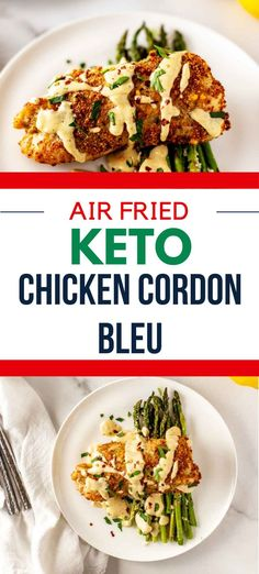 This easy Air Fried Keto Chicken Cordon Bleu is easily my favorite low carb chicken recipe that I've ever made. It is so crispy that it is hard to believe it isn't traditionally fried.. Make this one for your next family dinner, and you will have a glow of satisfaction that comes from serving something that everyone loves. #kickingcarbs #keto #lowcarb Low Carb Chicken Recipes, Keto Chicken, Keto Recipes, Dinner Recipes, Chicken Cordon Blue, Air Fryer Recipes, Keto Dinner, Are You The One, Fries