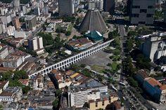 Arcos da Lapa, and Cathedral - Rio de Janeiro, Brazil.