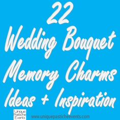 22 Wedding Bouquet Memory Charms Ideas + Inspiration