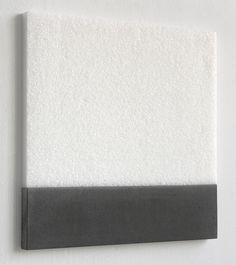 Kees de Vries:  seasalt and blackmarble cement,64,5x64,5 cm