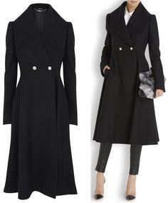 Alexander McQueen coat first worn Remembrance Sunday, 2014 Harvey Nichols