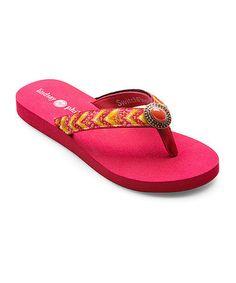 Look at this #zulilyfind! Red Resort Lulu Flip-Flop #zulilyfinds