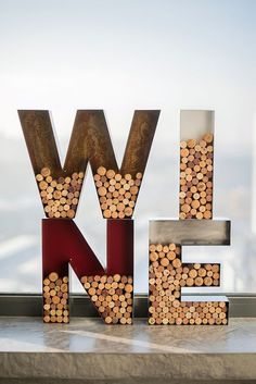 Винные буквы, коллекционерам винных пробок ... - RetroBlock винтажные буквы светильники из стали с лампами накаливания
