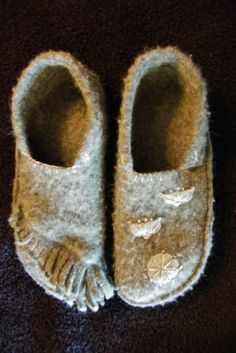 Repurpose Wool Sweater | Repurposed Wool Slipper Moccasins