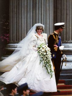 Princess Diana's wedding dress. Diana was exactly 9 years older than me.