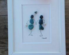 Pebble art friends girls Friends gift Girls by pebbleartSmiljana