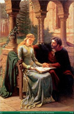 Edmund Blair Leighton   Abelard and his Pupil Heloise