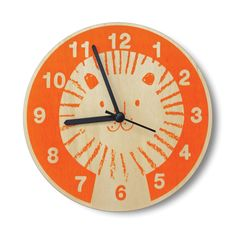Orange Lion Wall Clock by Lisa Jones (£25.00) Gorgeous, fun and quirky gifts for…