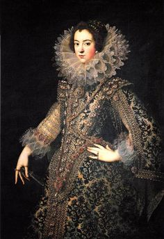 Isabel de France, 1621 by Rodrigo de Villandandro.  Fantastic fashions.