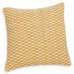 Coussin en coton jaune et écru 50x50cm ATACAMA