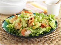 Salade met reuzengarnalen en komkommer - Libelle Lekker!