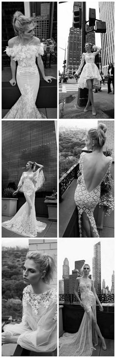 Inbal Dror's 2016 Wedding Dress Collection From the ultra-feminine, blush, organza- flowered tulle bolero, to the beaded embroidery, and a dreamy charcoal blush strapless tulle ballerina ball gown with peplum waist, the collection is filled with romance. For the fashion forward there are a number of knock-out pieces including the deep v-neck Point d'esprit tulle long-sleeved gown layered with Chantilly lace that is adorned with delicate crystals…