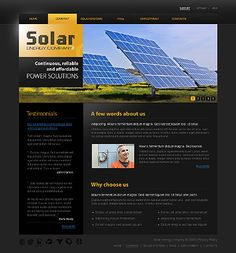 Solar Energy Website Templates by Glenn