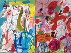 'Territories of Joy', two small works on paper  by Emily Besser