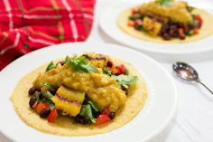 Grilled Pineapple and Black Bean Salad with Curried Mango Pear Chutney by Parsley In My Teeth