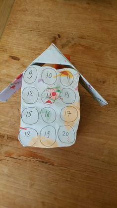 Aftelkalender van Jitte. Best goed gelukt.