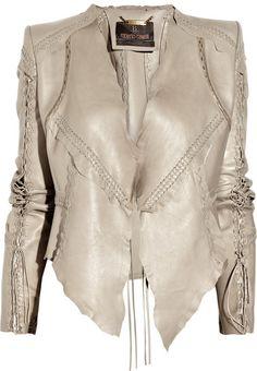 Roberto Cavalli, patchwork leather jacket
