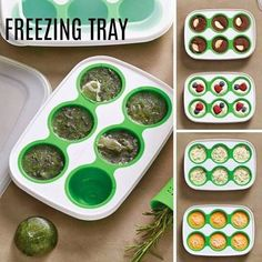 freezer trays! Even though it's called the Herb Freezing Tray Set, you can do so much more with it. Use it for herbs (with water, broth or alone) and freeze until you're ready to use them, or fill the wells with cookie dough, baby food, compound butter, leftover tomato paste, flavored ice cubes…you get the idea. They make frozen one-bite desserts easy! Quick tip: use it to freeze left over wine (if you ever left something on the bottle, lol! ) and use it for cooking or on you favorite…