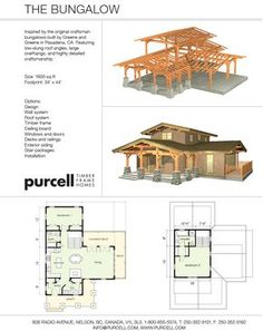Purcell Timber Frames - Full Home Packages and Custom Design - The Bungalow It would be easy to create an airlock entry at the front door. And the upstairs could alomst be a bachelor apartment.