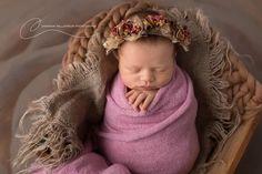 """Vintage Rose"" Australian photography prop dried flower tieback newborn baby sitter maternity wedding bridal vintage flower girl crown (pre order)"